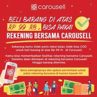 Cara Penggunaan Rekening Bersama Carousell