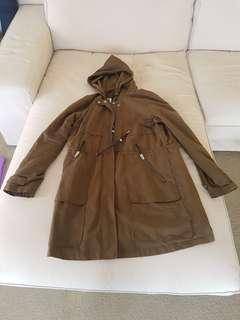 Khaki water resistant jacket