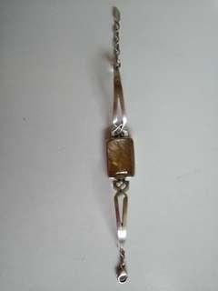 金髮晶925銀手鍊