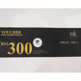 RM9 for RM300 Voucher - MK Curtain #MY1010