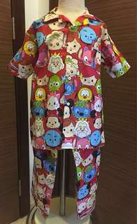 Cotton Pyjamas Tsum Tsum sz 8