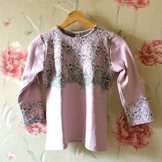 Pink Embroidery Shirt