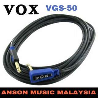 Vox VGS-50 Rock Guitar/Bass Cable, 5M