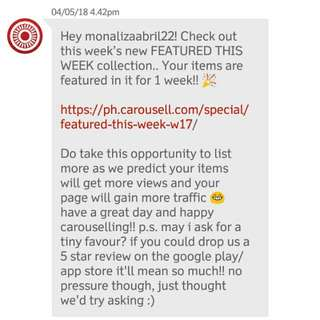 Thank you Carousell For This Proof As A LEGIT SELLER 😘