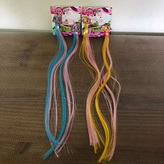 My Little Pony Hair Clip With Hair Extensions (2 Set)