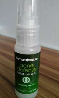 Human Nature 100% Natural Acne Defense Solution Gel 20g