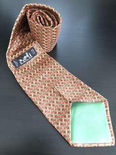 100% Real Hermes Silk Tie