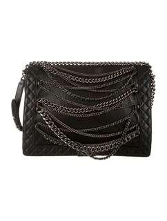 Chanel Boy Enchained XL Black Calfskin Shoulder Bag