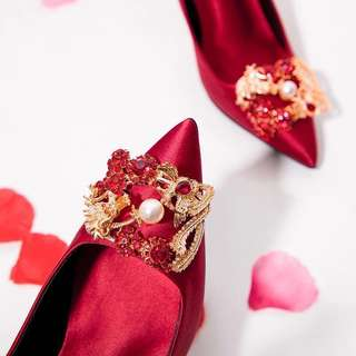 Red high heels /Chinese Wedding Shoes