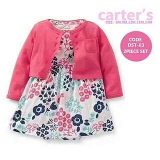 Baby Cardigan and Dress Set - DST03