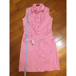🚚 粉紅色無袖連身裙