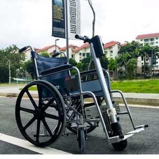 retrofit motorized wheelchair unit