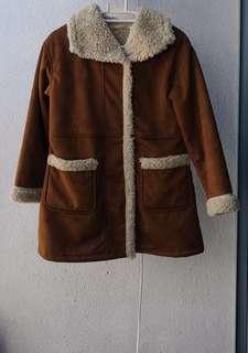 Faux Suede Coat Winter Jacket