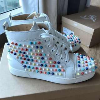 Christian Louboutin Colorful Spikes Shoes (Louboutin size 37.5)
