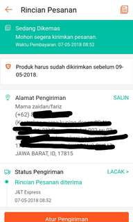 Testimoni via shopee