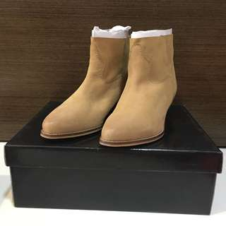 BNIB ASOS Leather Booties in Sand