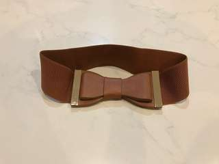 Brown ribbon belt