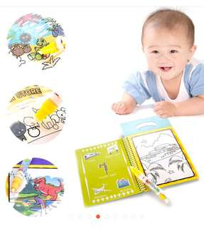 Cheapest. Magic Water Drawing Colouring Book (transportation). In stocks.