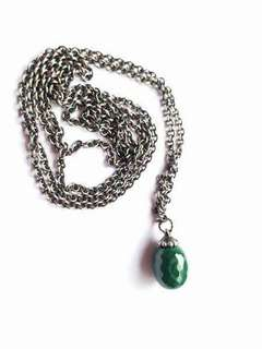 New Trollbeads 70cm Fantasy Necklace with Malachite