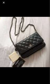 Authentic Chanel Black Wallet on Chain -WOC