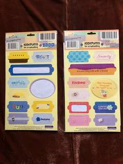Hallmark Cardboard Bookplates for Scrapbooking