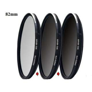 Variable ND filter 82mm (adjustable ND2 to ND400)