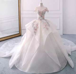 New Luxury Handmade-embroidery Wedding Dress