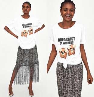 🚚 OshareGirl 05 歐美女士印花童趣短袖上衣T恤短T
