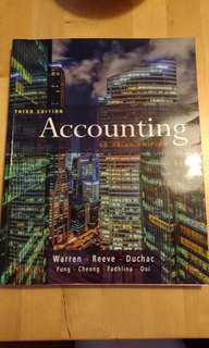 Accounting an Asian Edition Text Book
