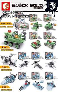 Latest! SEMBO Block Gold Military 10in1 Building Block Toy