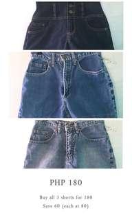3 Shorts (save 60)