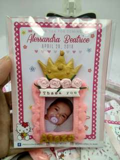 Princess ballerina style souvenir,  candle and invitation