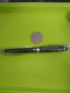 健力士黑啤 GUINNESS 中古 1995年 廣告品 原子筆