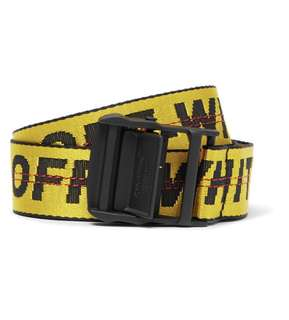 Off-White Yellow Industrial Canvas Belt (101% Authentic)