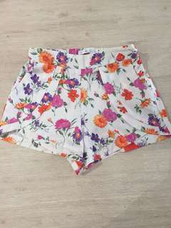 Quirky circus floral shorts
