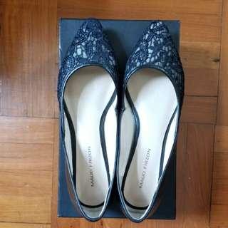 MAUD FRIZON Paris 黑色 Lace 尖頭鞋