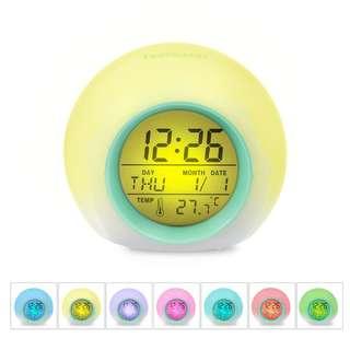 (136)  Colors Changing Alarm Clock