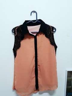 Baju atasan pink peach
