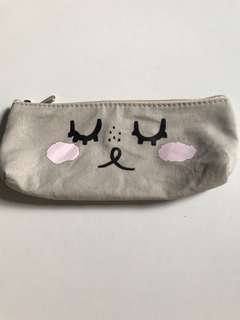 Grey Rabbit Cloth Pencil Case