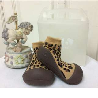 Brand New n Original Attipas Baby Shoes Leopard Brown