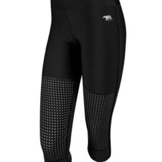 Running bare 3/4 tights, size 10