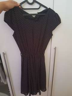 daily dress polkadot black