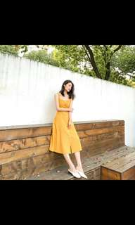 [PREORDER] Ulzzang yellow dress