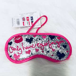 全新Claire's 粉紅色眼罩 Pink Eye Mask Only have eyes for you