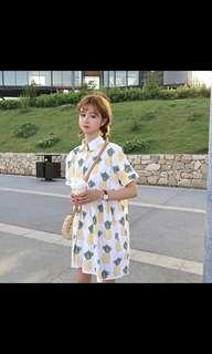 [PREORDER] Harajuku pineapple babydoll dress