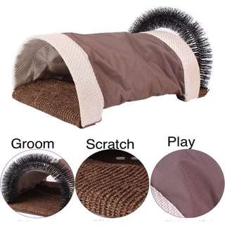 (NEW!) cat rattle tunnel bed scratch groom
