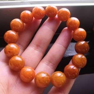 Grade A myanmar jade with cert 天然红翡翠手链 14mm 大珠子