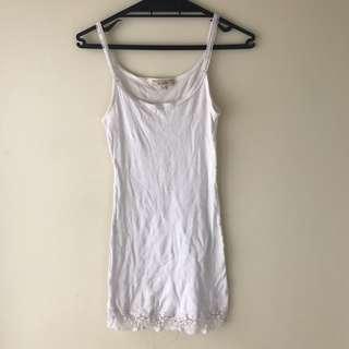 Sleeveless ribbed dress - long singlet