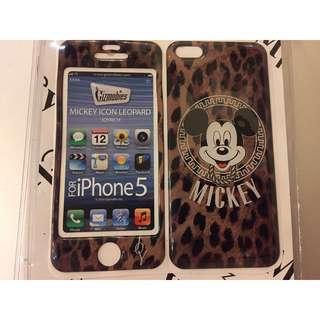 全新 限量 絕版 日本 Joyrich 聯名 迪士尼 DIsney 豹紋 米奇 iPhone 5 5s SE 手機貼