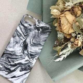 流沙雲石紋 iPhone case 黑白浮紋水彩紋 手機硬殼 iPhone 7/8 plus 100% new